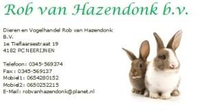 Rob van Hazendonk Advertentie